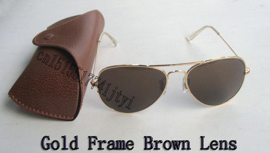 Top Quality Mens Womens Sunglasses 3025 Classic Gold Frame ...