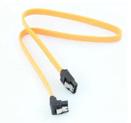 1pcs 40cm Serial S ATA Straight SATA to 90 degree SATA Adapter data cable for motherboard