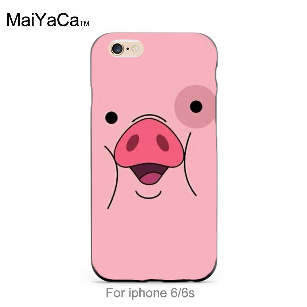 <font><b>Amazing</b></font> new arrival phone <font><b>case</b></font> cover Gravity Falls Lovely pink pig face beautiful <font><b>case</b></font> for <font><b>iPhone</b></font> 6 6s <font><b>case</b></font>
