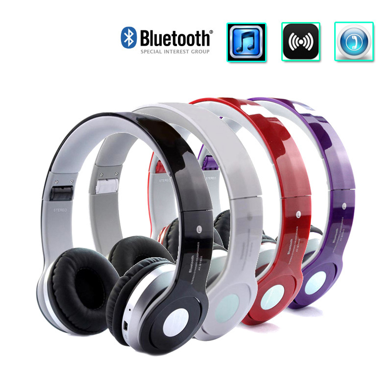 100 brand wireless bluetooth headphones earphone earbuds stereo foldable handsfree headset. Black Bedroom Furniture Sets. Home Design Ideas