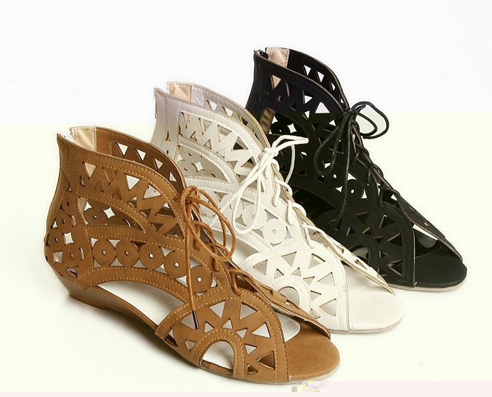 Big size 34-43 new 2015 gladiator sandals women,fashion cut-outs wedges women sandal summer shoes woman - Forrest Wang's store
