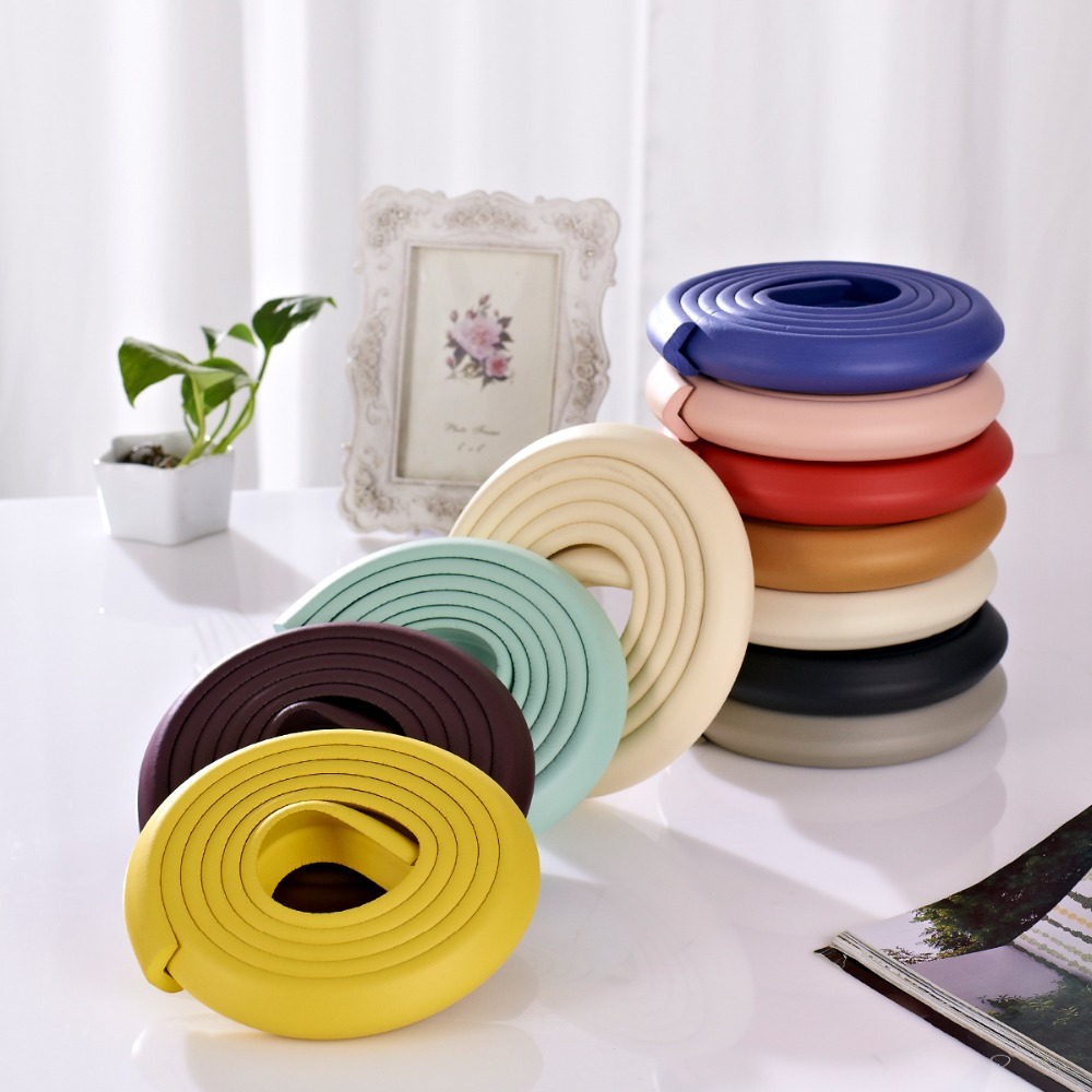 2M ''L' Style New Baby Bumper Strip Safety Corner Protector Glass Table Edge Guards Cushion - Shoping Center store