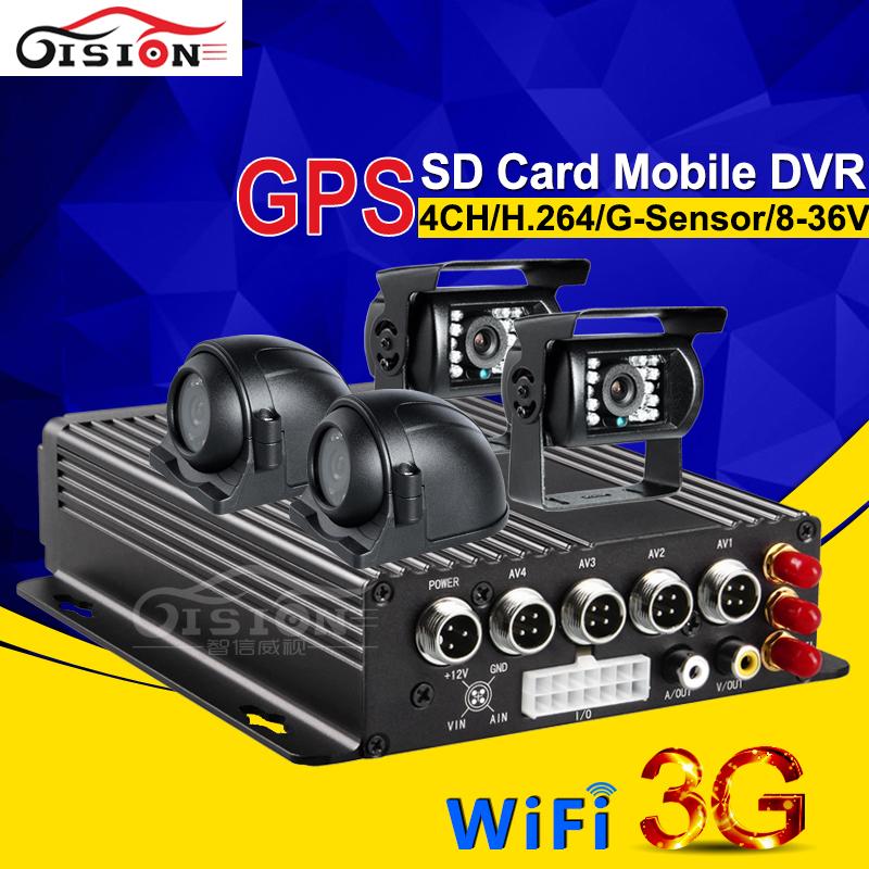 2PCS Side Camera +2PCS Parking Rear Camera Car Dvr Kits For Bus Taxi CCTV Surveillance System 3G GPS Wifi Online Car Camera Kits(China (Mainland))