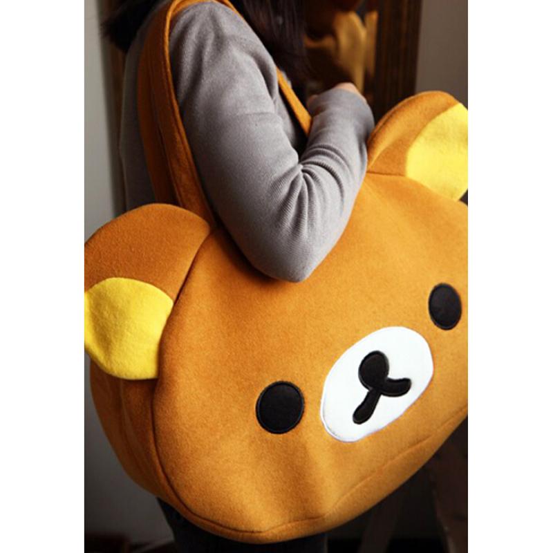 5pcs( Cute Big Bag Handbag Shoulder Bag Plush Relax Brown Bear<br><br>Aliexpress