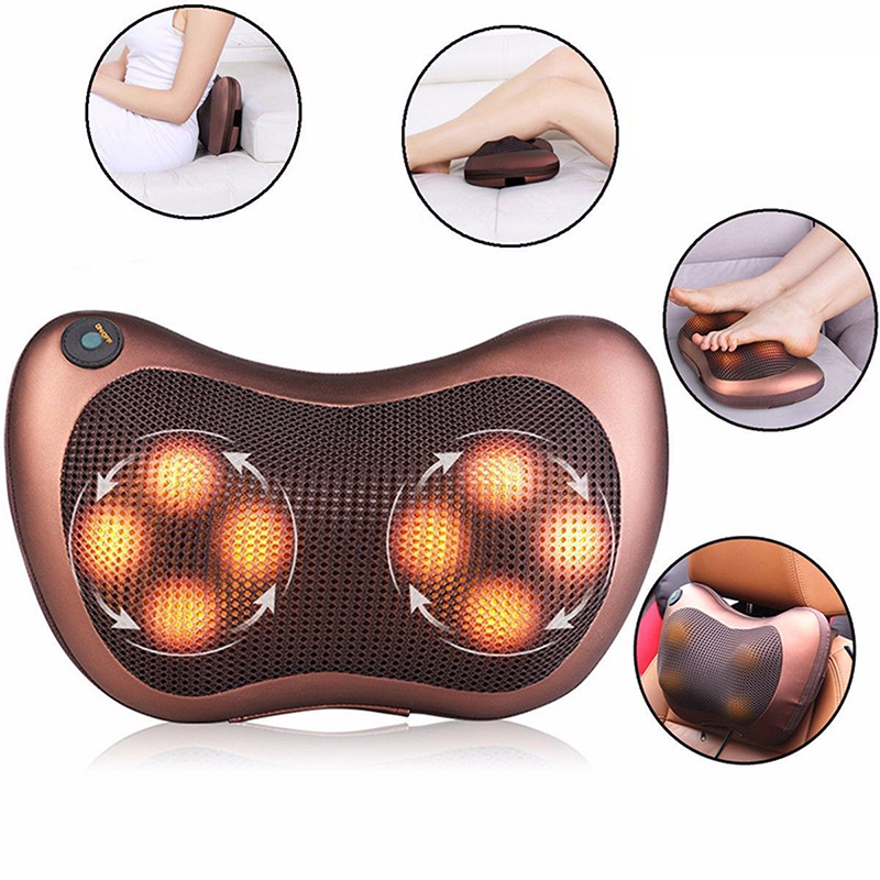 Newest Electric Car Massage Pillow Home Massager Cushion Body Neck Back Shoulder Leg Home Shiatsu Massage Pillow Health Care(China (Mainland))