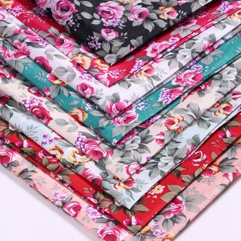 45133 50*147CM flower 100% Polyester fabric for Tissue Kids Bedding textile for Sewing Tilda Doll, DIY handmade materials