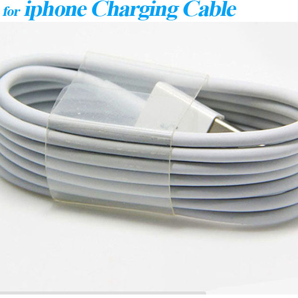 Hot Sale White Wire cable For iPhone 5S 5C 6 iPod Touch 5th iPad4 mini 8 Pin USB Cable Cord Charger data Sync For ios 7 8 CN(China (Mainland))