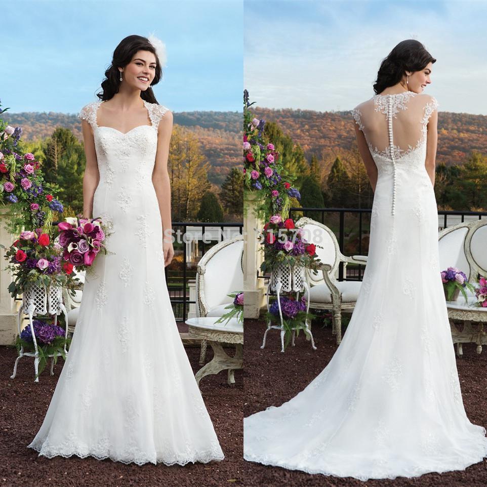 Buy new garden wedding dresses v neck for Garden party wedding dress