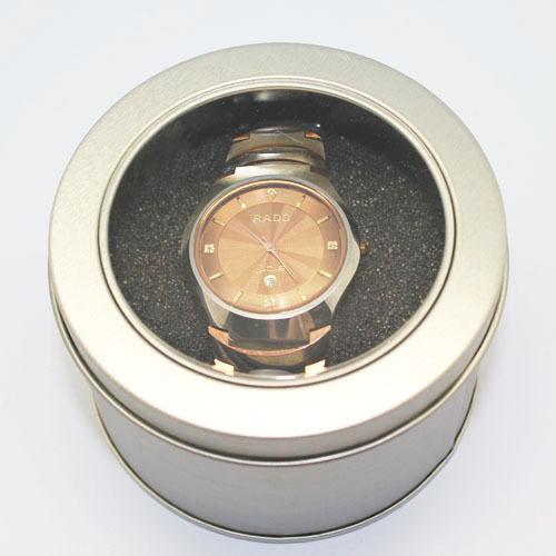 Free shipping Window Circle Tin Watch Packaging Box Wholesale 25pcs/lot 90*60mm(China (Mainland))