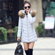 Femmes Vers Le Bas Manteau D'hiver 2016 Femme Veste De Fourrure À Capuchon Canada Parka Lady Bureau Manteau Femme Neige Vague Cut Pardessus Sexy vêtements(China (Mainland))