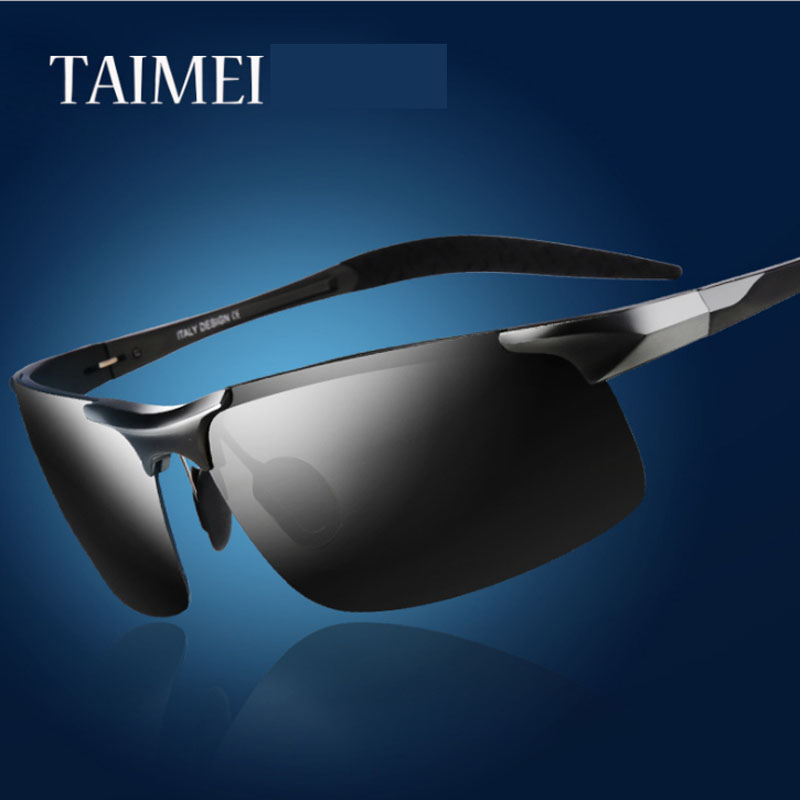 TAIMEI Polarized Sunglasses Men Outdoor Sport Sun Glasses For Driving Fishing Golfing Aviation aluminum magnesium alloy(China (Mainland))