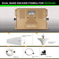 Smart LCD DUAL BAND 2G 3G 4G Cell phone signal Booster 850 AWS1700 2100mhz mobile signal