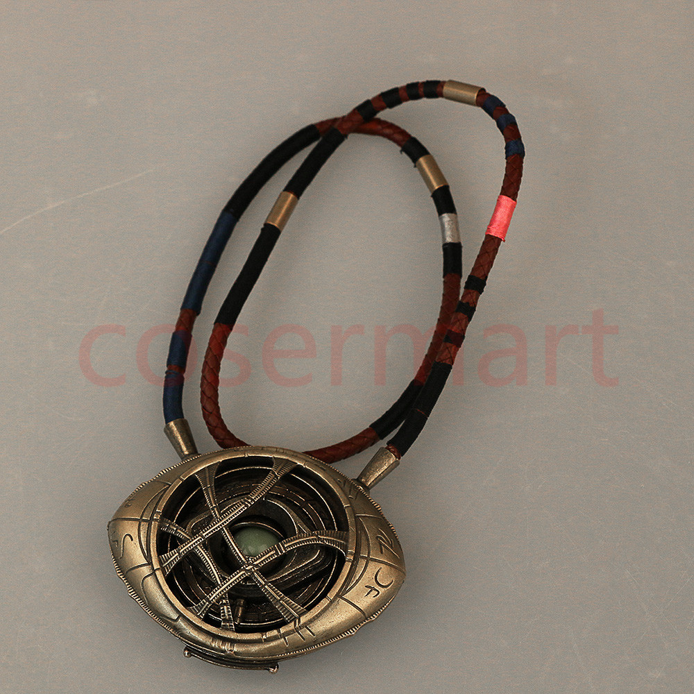 Doctor Strange Necklace Eye of Agamotto Necklace Eyes Can Open Cosplay Props New (8)