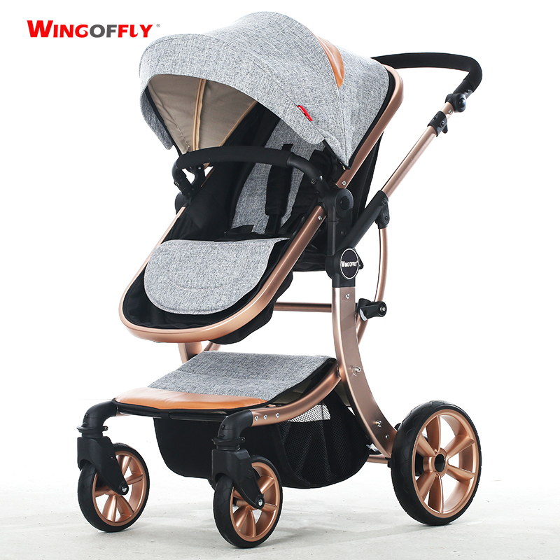 High-quality, High-view, Aluminum Alloy, Bidirectional, Detachable, Suspension, Folding Baby Stroller, Pram, to Sit or Lie down(China (Mainland))
