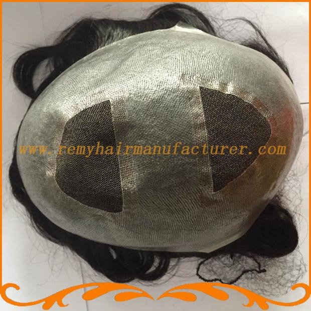 New arrival,base top and back swiss lace and around pu, Indian hair, v-loop,men toupee,wigs, free shipping DHL,FEDex(China (Mainland))