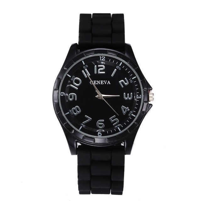 Big Clearance Sale Geneva Casual Watch Women Dress Watch Quartz Military Men Silicone watches Unisex Wristwatch Sports Watch