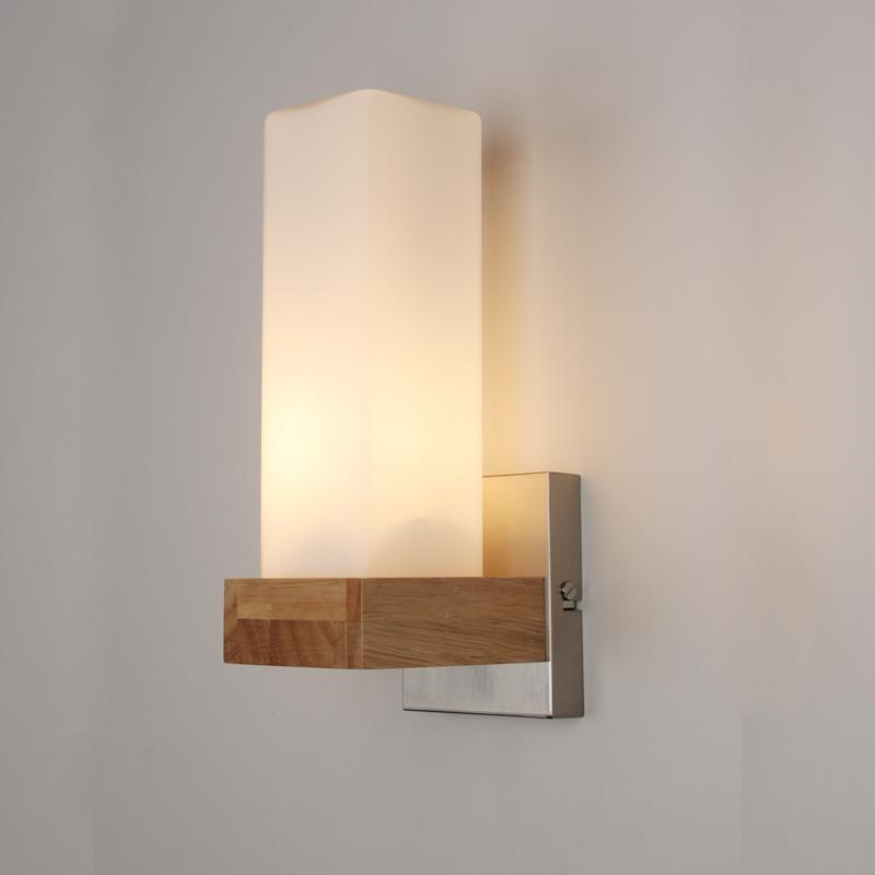 nordic eichenholz led leuchten wandleuchten f r home neben. Black Bedroom Furniture Sets. Home Design Ideas