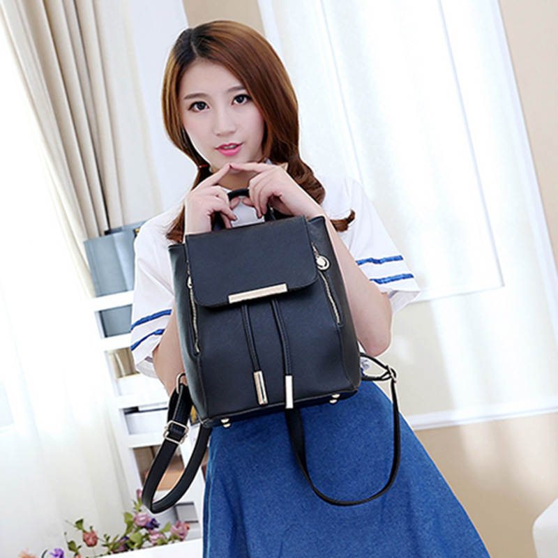 Summer 2015 new candy female PU leather travel bag backpack College Wind Korean casual fashion tassel student shoulder bag(China (Mainland))