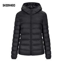 SINGRAIN נשים למטה מעיל סלעית 95% ברווז חם מעיל מוצק נייד הלבשה עליונה גדול גודל קל במיוחד למטה מעיל חורף(China)