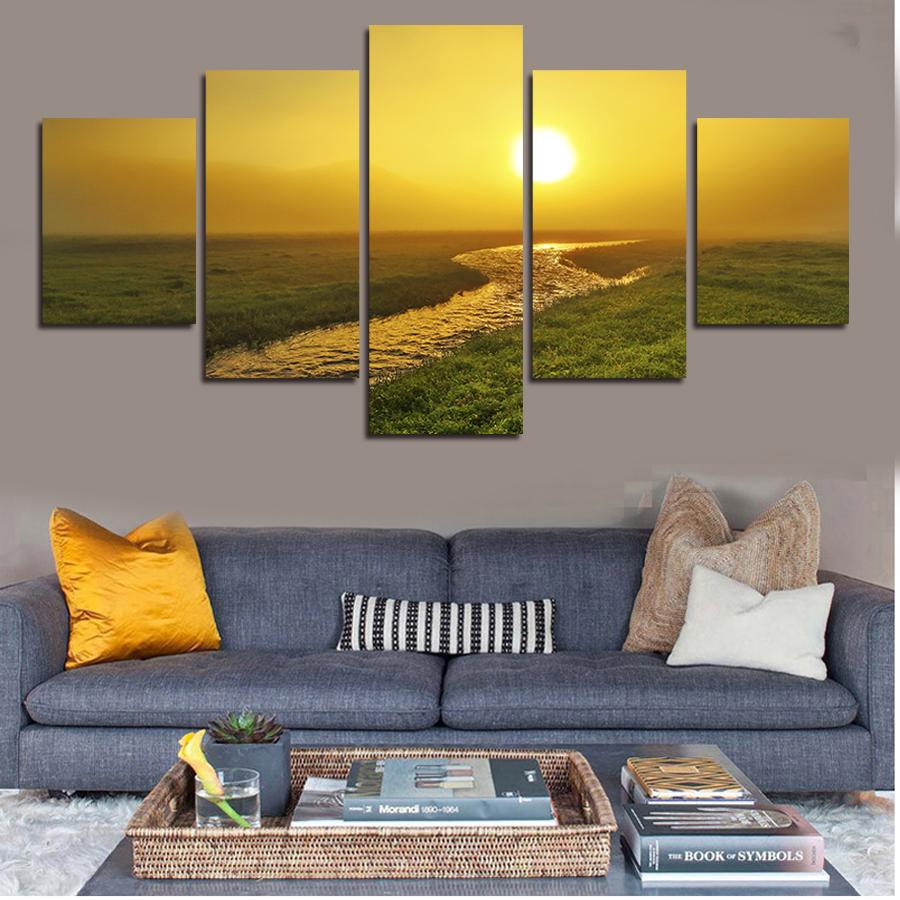 5 PcsSet Artist Canvas Still Life Painting Sun And Ocean