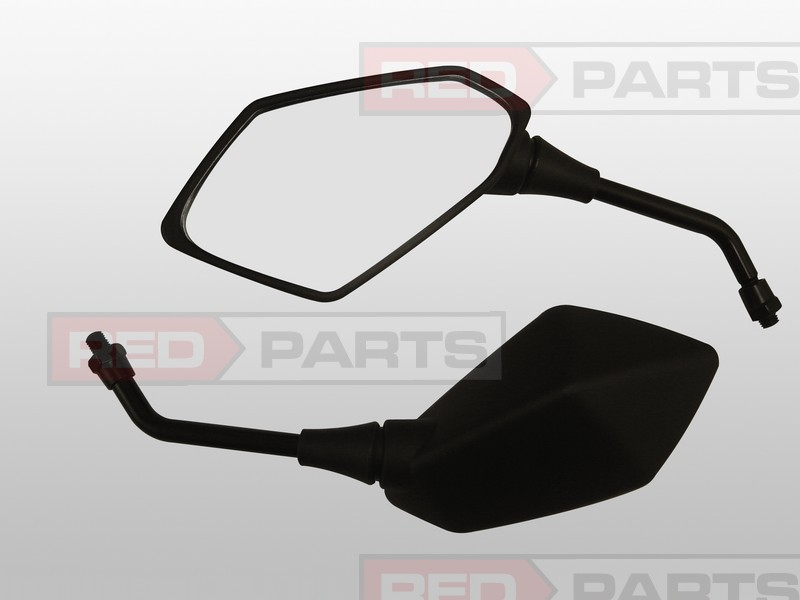 Brand New Black Motorcycle Mirror Set ,ATV Quad Scooter Parts Guaranteed 100% E-MARK AT1135 - Autotop Selected store