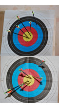 10 pcs SEC 60 60 cm Archery Shooting Target Paper Bow Hunting Archery Kit