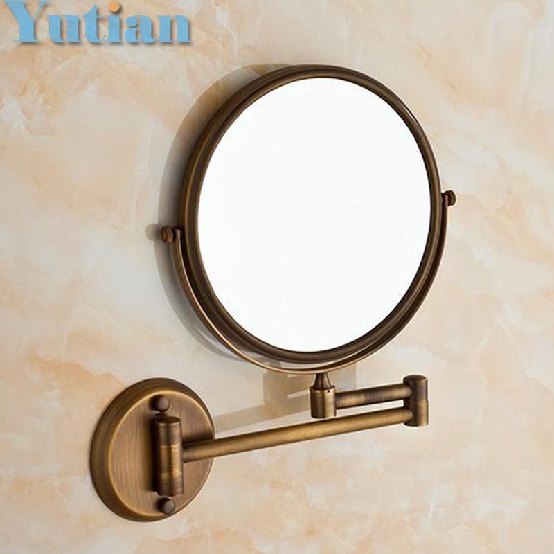 Folding bathroom mirror