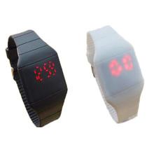 2015 LED silicona historieta de los niños del reloj del deporte muchachos de las muchachas mujeres del reloj digital de diseño Ultra delgado reloj relogio masculino