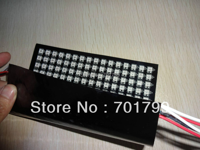 16*16pixels WS2812B led digital flexible panel light(ws2811 IC controlled),size:17cm*17cm,DC5V input