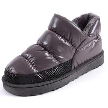 2016 mujeres de invierno botas de nieve caliente de la felpa por botín impermeable zapatos botas de mujer zapatos de tacón bajo casuales feminnina tamaño grande 42 43(China (Mainland))
