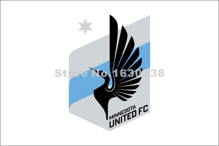 Minnesota United FC Flag 3ft X 5ft Polyester North American Soccer NASL 2011 League Banner 144* 96cm Custom Flag(China (Mainland))