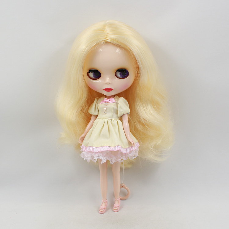 Free shipping cost Nude Blyth dolls Blond hair limited YB-08(China (Mainland))