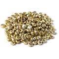 Good Quality 150 piece Lot Handmade DIY 7x4mm Gold Silver Oblate Letter Bead Acrylic Beads for