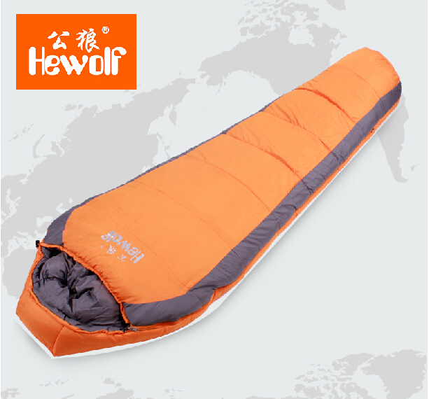 Outdoor camping single cotton sleeping bags in the spring and autumn winter thickening Cotton mummy sleeping bag