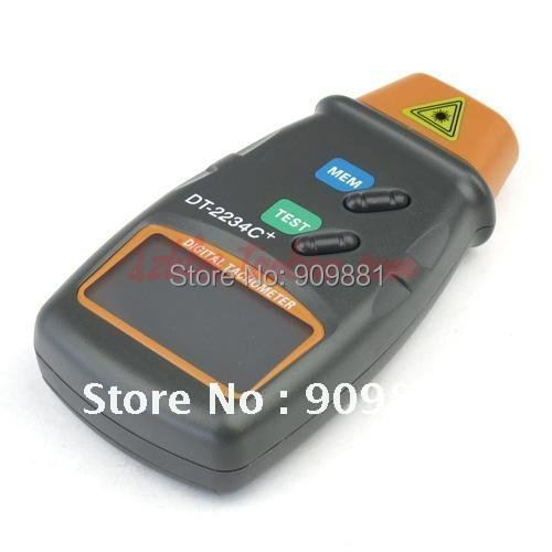 Digital Laser Tachometer Non Contact Electronic Photo Tachometers 2.5-100000 RPM Tach Meter DT-2234C+With Reflecting Tape Marks(China (Mainland))