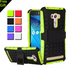 For Asus Zenfone Selfie ZD551KL Case Dual Layer Armor Silicone + PC Hybrid Hard Kickstand Cover For Asus Selfie Zenfone ZD551KL(China (Mainland))