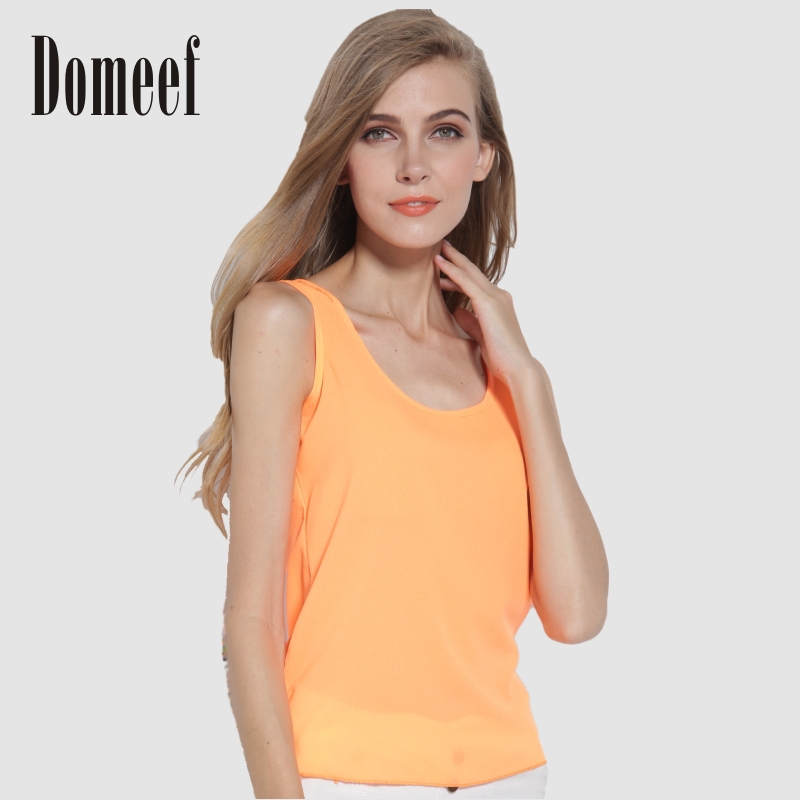 2015 Summer Fashion Chiffon Sleeveless Tank Tops C...