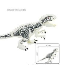 Мир Юрского периода 2 динозавра тираннозавр рекс птерозаурия Трицератопс строительные блоки игрушки для детей динозавр парк игрушка Подар...(China)