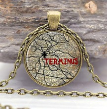 The Walking Dead TERMINUS Pendant Necklace in Gothic Style