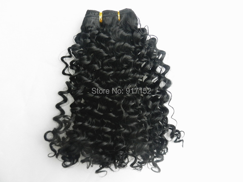 5PACKS/LOT Synthetic Hair extension Black Jerry Curly hair weaving - Cathy's beauty store