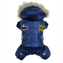 Зимнее пальто воздуха к-сила синий красный коричневый комбинезон сша собака одежда для зимней зоомагазин чихуахуа одежда