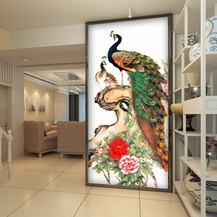 Buy Vintage Peacock Wallpaper Peony Flower Wall Mural 3D Pho