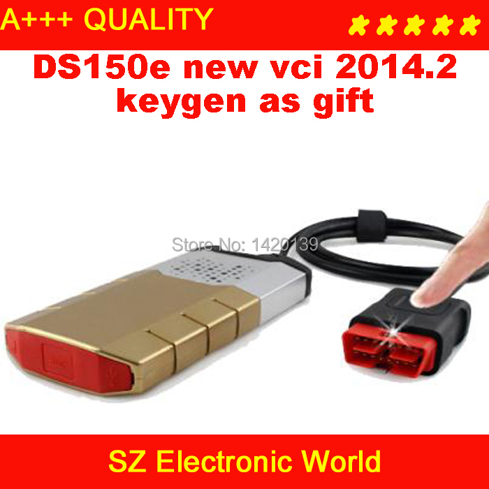 2014 .2 software+ keygen gift ! Newest TCS CDP pro ds150e DS150 VCI PRO COM 3 in1 CARs + TRUCKs freeshipping - SZ Electronic World store
