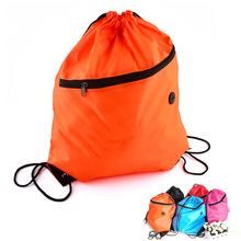 New Fashion Women Polyester Drawstring Backpack Solid Color School Backpack Girls Bookbag Sport Pack Pouch Blosas Bag Mochila(China (Mainland))