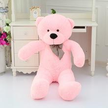 big lovely plush teddy bear toy big eyes bow bear toy pink teddy bear gift 120cm