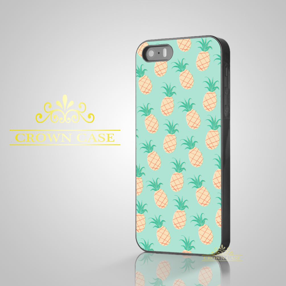 2016 Coque Cartoon Pineapple Pattern Cute Case for iPhone 5S SE 5C 5 4S 4 6 6S Plus Cover for iPod Touch 5 for iPod Touch 6 Case