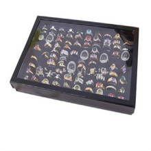Hot Sale Useful 100 Slot Ear Ring Pin Show Box Organizer Holder Only Jewelry Display Case(China (Mainland))