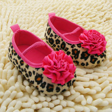 Kids Girl Leopard Baby Shoes Peony Flower Infant Toddler Crib Shoes 0-18Months New (China (Mainland))