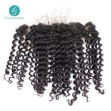Peruvian Deep Wave Free Shipping Lace Frontal Closure 4X13 Free Part Curly Lace Closure Full Thick Full Hand Tied Swiss Lace