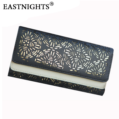 EASTNIGHTS brand new fashion wallets women leather colorful girls hollow element double designer purse - Sun Shine Leather Co., Ltd. store